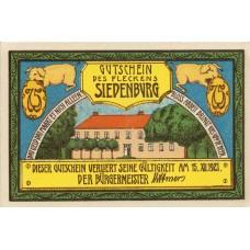 Siedenburg Flecken, 4x75pf, Set of 4 Notes, 1223.1