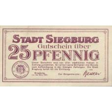 Siegburg Stadt, 1x25pf, 1x50pf, Set of 2 Notes, 1225.3