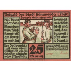 Sömmerda Stadt, 2x25pf, 2x50pf, 2x1mk, Set of 6 Notes, 1230.1