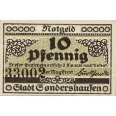Sondershausen Stadt, 1x10pf, 1x25pf, Set of 2 Notes, 1241.1a