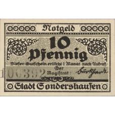 Sondershausen Stadt, 1x10pf, Set of 1 Note, 1241.3