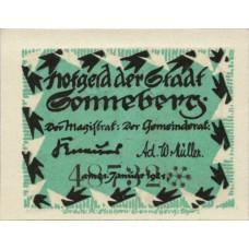 Sonneberg Stadt, 1x10pf, 1x25pf, 1x50pf, Set of 3 Notes, 1244.1a