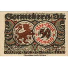 Sonneberg Stadt, 6x50Pf, Set of 6 Notes, 1244.2