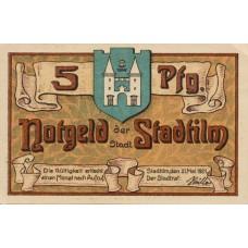 Stadtilm Stadt, 1x5pf, 1x10pf, 5x50pf, Set of 7 Notes, 1250.1
