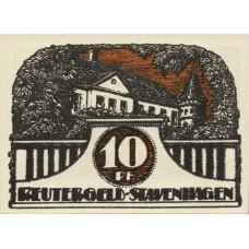 Stavenhagen Stadt, 1x10pf, 1x25pf, 1x50pf, Set of 3 Notes, 1257.2