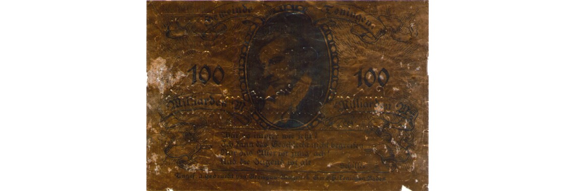 Wooden and Aluminum Foil Banknotes